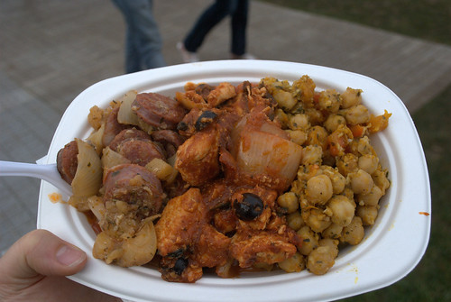 Dinner from tapas stall at Fiesta