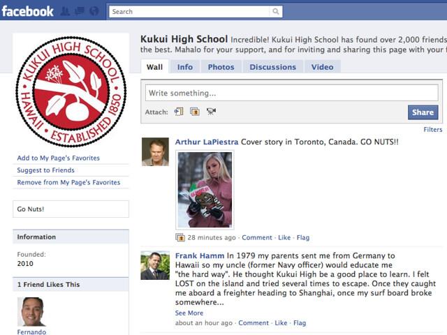 Kukui High on Facebook