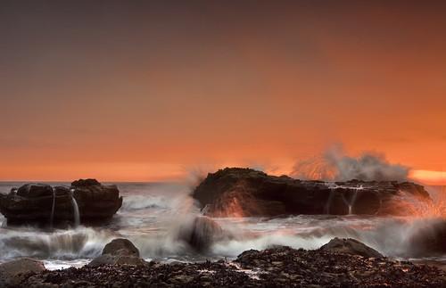 Eruption (Mike Ridley.) seascape beach sunrise coast northsea coastline top20waterpix whitburn leefilters thepowerofnow