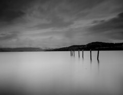 Tranquility (lordoye) Tags: longexposure blackandwhite bw canon pigeons wideangle filter 7d luss sigma1020mm 10stopnd110 daytimelongexposures