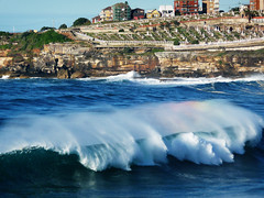 Waking Up The Dead (WalFaY) Tags: cemetry beach bondi lumix bronte tamarama spraybow tz5