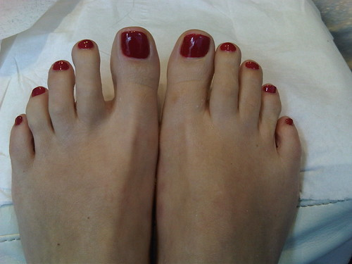 pedicure result