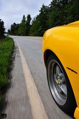 Looking Behind (Matthew Britton) Tags: red classic car yellow matt during pig moving italian nikon action matthew rally fast images ferrari pit crescent trail stop cs corvette mb rolling v8 britton f430 barchetta v12 550 zo6 d300s