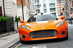 Spyker Aileron (Laurens Grim) Tags: orange london speed photography 50mm nikon grim united engine fast kingdom automotive 18 expensive rims laurens luxury supercar spotting sportscar horsepower spyker carspotting d90 aileron hypercar
