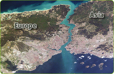Satelitte Image Of Istanbul City, Turkey