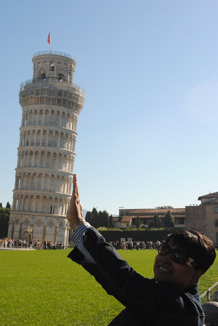 Leaning Tower of Pisa - and me