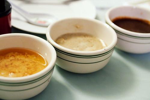 three sauces!