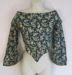 Victorian Cotton Bodice w/Bell Sleeves & Matching Cape (wearitsatvintage) Tags: victorian cotton cape bodice matching sleeves wbell