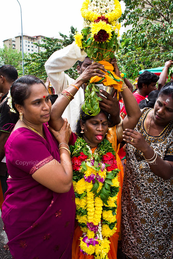 Devotees on the way to Sri Muneeswarar Temple, KL, Malaysia