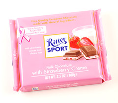 RitterSport Milk Chocolate with Strawberry Creme