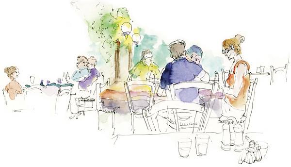 Cafe at Mycenae, Mykines, Greece