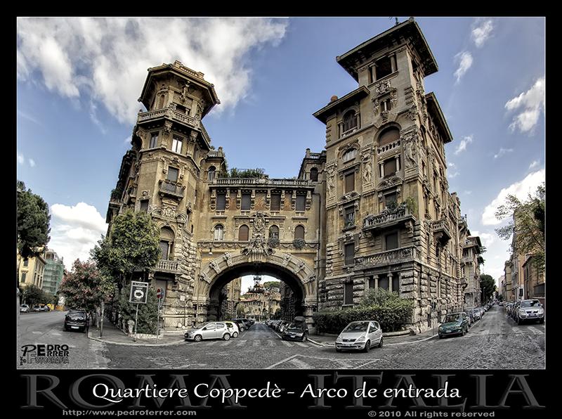Roma - Quartiere Coppedè - Arco de entrada