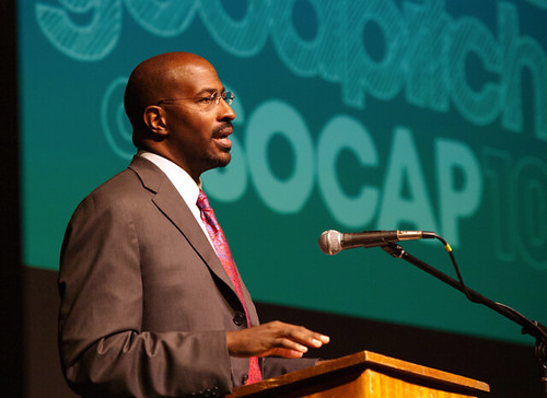 Van Jones delivers the Good Pitch at SOCAP10 keynote