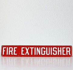 Vintage Red Enamel Fire Extinguisher Sign (bellaluluvintage) Tags: vintage etsy poppytalk
