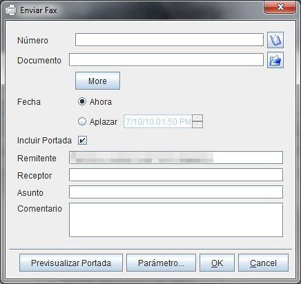 Envio de fax