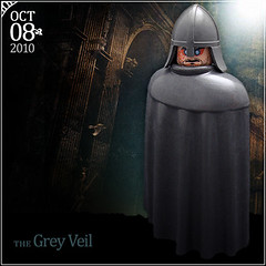 October 8 - The Grey Veil (Morgan190) Tags: castle halloween church grey scary october advent calendar lego medieval haunted creepy knight ni minifig custom warden playmobil 2010 m19 minifigure morgan19