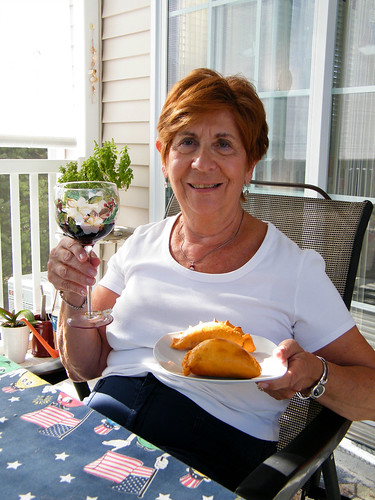 Aunt Phyl and the Empanadas by katiemetz on Flickr