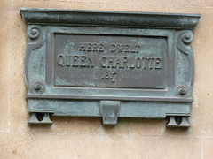 Photo of Charlotte of Mecklenburg-Strelitz bronze plaque
