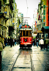 Tram (Zosimidou) Tags: tunel taksim