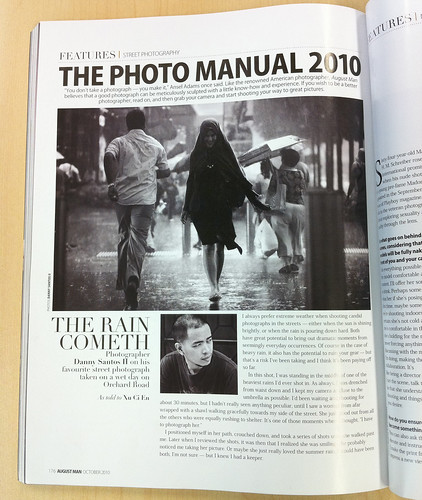 August Man magazine, annual photography issue, page 176
