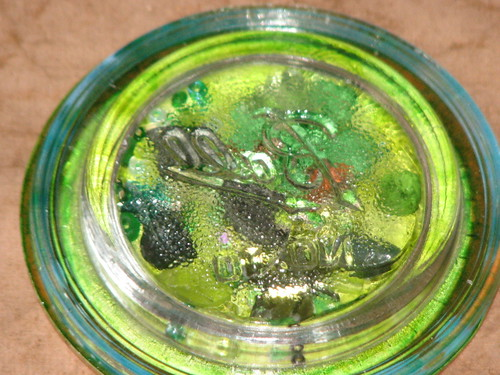 Vintage Ball Glass Lid Monochromatic Magnet 013