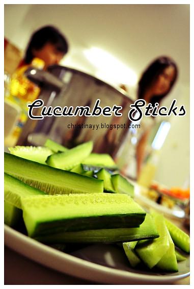 Pre-Birthday Preparation: Cucumber Sticks