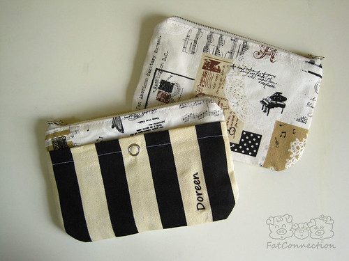 Personalised zipper pouch.