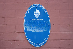 Photo of Globe Hotel blue plaque