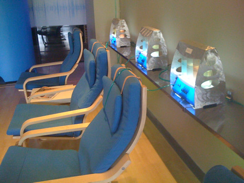 The oxygen bar at Revive Energy Bar