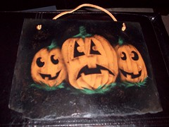 010 (Chad Maybray) Tags: halloween pumpkin hand painted slate
