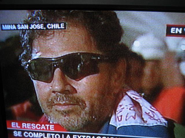 Foto rescate Luis Urzúa mina San José Chile
