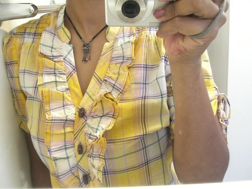 Bike clothes - three of my favorite things, the color yellow, plaid and ruffles