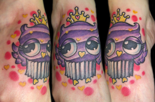 Cupcake Owl! by Vintage Karma Tattoo Studio
