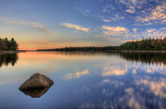 Solitary (deanbouchard) Tags: sunset reflection nikon ns halifax hdr longlake d90 colorphotoaward nikon1685mmvr tgamphotodeskcolour