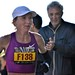 Olena Shurkno nears the 23 mile mark ©Bill Hughes: Women's Winner of the Marathon