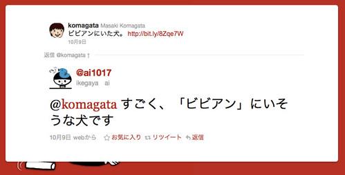 Twitter / @ikegaya ai: @komagata すごく、「ビビアン」にいそうな犬 ...