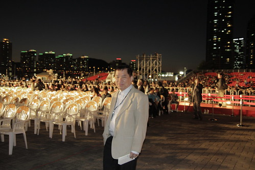 Dad at Pusan Film Fest closing ceremony