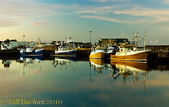 Blue Boats - Yellow Boats Evening (w11buc) Tags: sea boats evening fishing aberdeenshire harbour local trawler fraserburgh efs1022usm 5photosaday greatscot canoneos7d