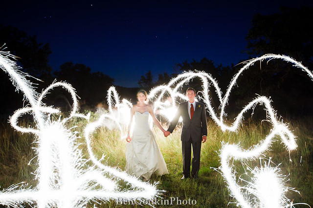 Bride & Groom + Fire
