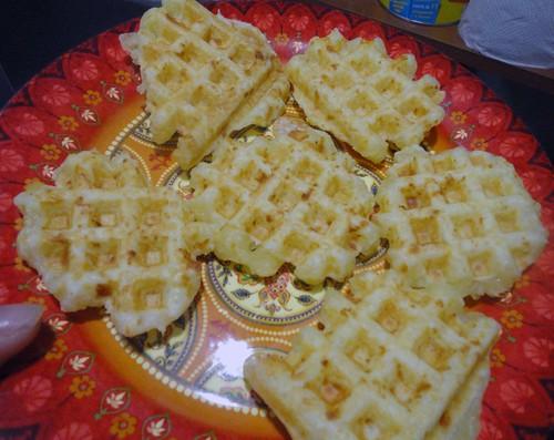 """""""Waflle"""" de pão de queijo"""