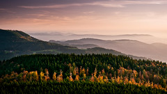 Transformation (andywon) Tags: autumn trees sunset fall nature colors landscape deutschland hills schwarzwald blackforest fogs mummelsee explored schwarzwaldhochstrase gettyimagesgermanyq1