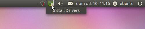 Figura 2 - Icona del gestore dei driver aggiuntivi;