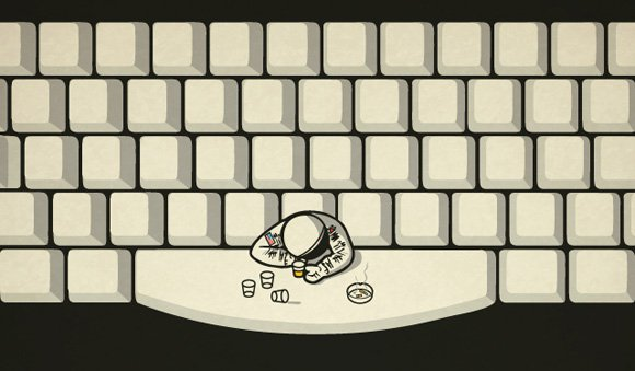 Astronauts hang out at the...