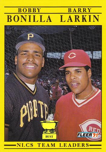 Baseball Card Bust: Bobby Bonilla, Barry Larkin, 1991 Fleer