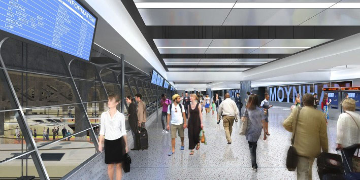 Moynihan Station interior rendering (Courtesy Moynihan Station Development Corporation)