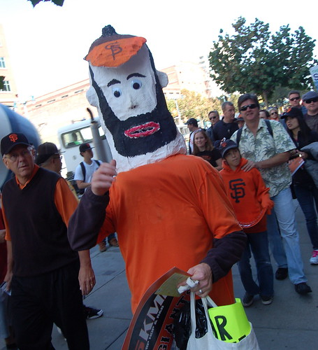 Phillies v. Giants: Brian Wilson Costume