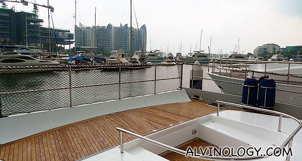 The rear deck