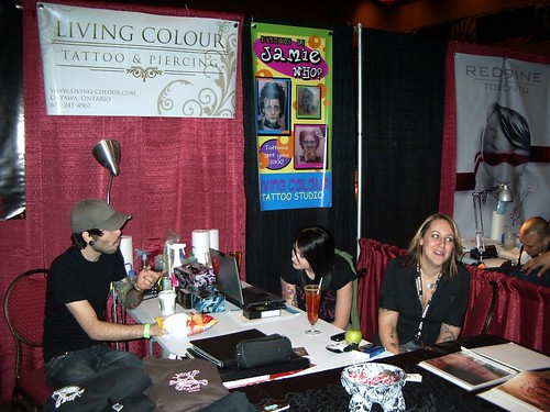 Living Colour Tattoo Ottawa. From left to right: Adrian Soden, Laura,