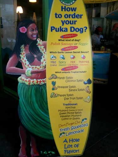 Puka Dog Hawaiian Style Hot Dogs in Waikiki Honolulu Hawaii