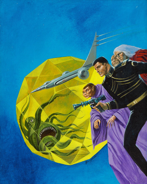 Jack Gaughan - Cap Kennedy #5 Jewel of Jarhen, paperback cover, 1974